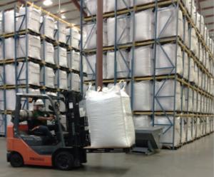 loading stored peanuts