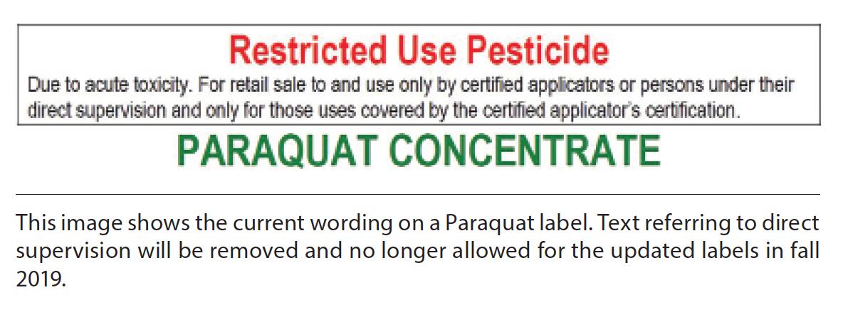 paraquat label